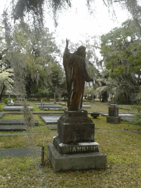 Angel statue near Lauderdale plot
